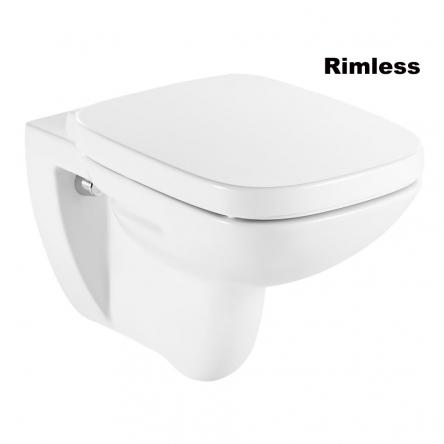 Roca DEBBA Rimless унитаз подвесной, с сиденьем (в упак.) - A34H99L000