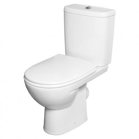 Kolo FREJA Premium унитаз, косой выпуск, сливной бачок 3/6 л, нижний подвод, сиденье с крышкой Duroplast Soft-close - L79046000