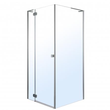 VOLLE BENITA душевая кабина 90*90*195см, квадратная (стекла + двери), левая, распашная, хром, прозрачное - 10-22-905L glass