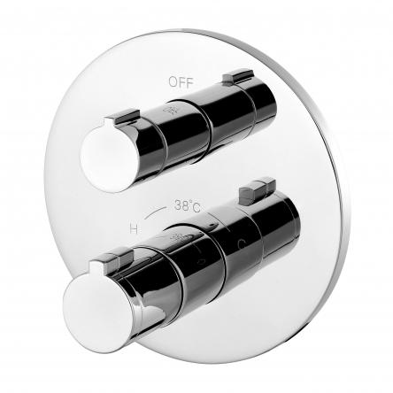 Imprese CENTRUM cмеситель для ванны, термостат, скрытый монтаж (1 потребитель), форма R - VRB-15400Z