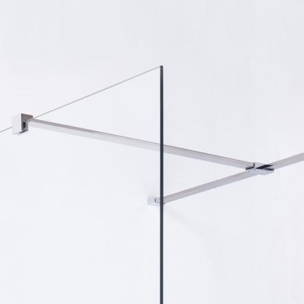 VOLLE Держатель стекла (F) с креплениями, 1000мм - 18-05F-100
