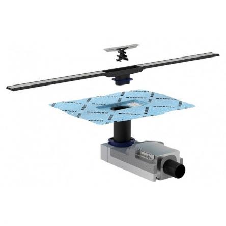 Geberit Комплект CLEANLINE: набор для дренажных каналов + дренажный канал, высота стяжки 65-90мм - 154.152.00.1+154.450.KS.1