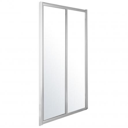 Eger Дверь в нишу 120*195см, раздвижная, профиль хром, стекло прозрачное 5мм - 599-153(h)