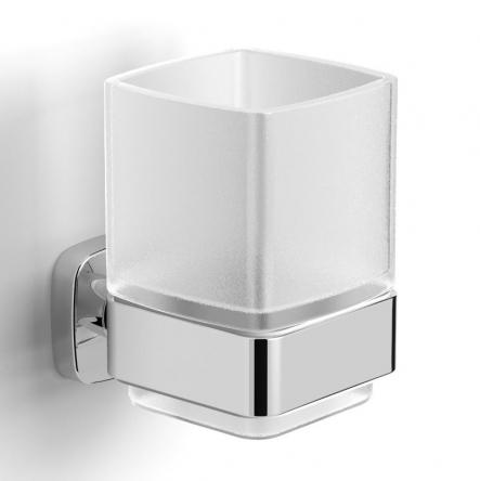 VOLLE TEO стакан матовое стекло, крепление к стене, хром - 15-88-411