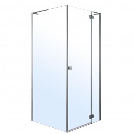 VOLLE BENITA Right душевая кабина 90*90*195см, квадратная (стекла + двери), распашная, хром, прозрачное - 10-22-905Rglass
