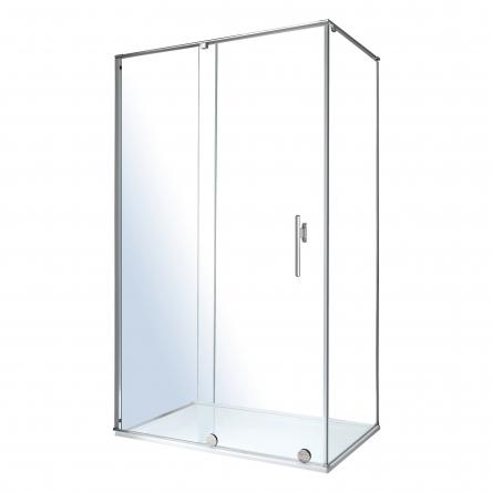 VOLLE TEO душевая кабина 117,5*87,5*200см (стекла + двери), раздвижная, хром, стекло прозрачное 8мм - 10-22-333