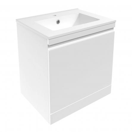 VOLLE ORLANDO комплект мебели 60см белый: тумба подвесная со скрытым ящиком + умывальник накладной арт 13-01-042A - 15-35-60
