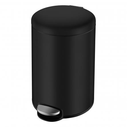 VOLLE Ведро мусорное округлое 3л, с педалью, черное - 14-03-53B