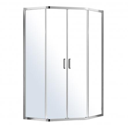 Eger IRIS душевая кабина 100*100*195см пятиугольная (стёкла + двери), с раздвижными дверями - 599-143/1