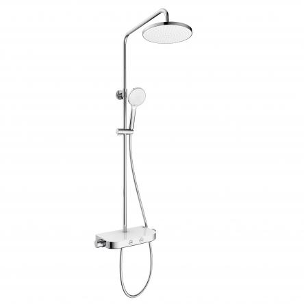 Imprese CENTRUM W система душевая (смеситель-термостат для душа, верхний и ручной душ 3 режима, шланг) - Т-15520