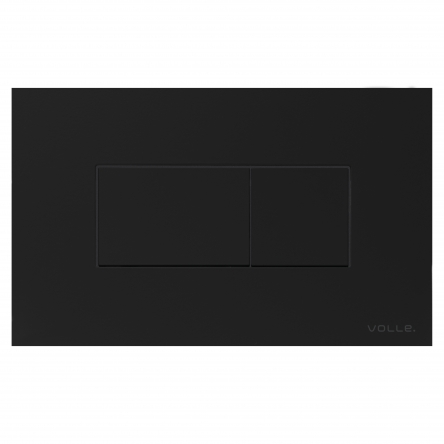 VOLLE ALTO NEO клавиша смыва, черная, soft-touch, пластик - 221818