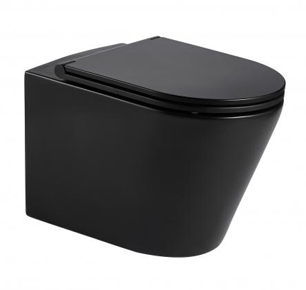 VOLLE NEMO BLACK Rimless унитаз 51,5*35,5*36,5см подвесной, матовый, сиденье твердое Slim slow-closing - 13-17-316 Black