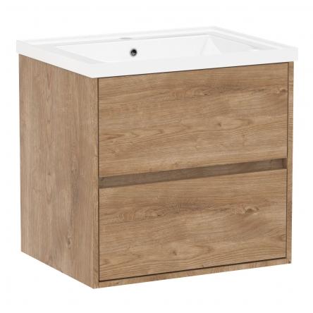VOLLE TEO комплект мебели 65см дуб готланд: тумба подвесная, 2 ящика + умывальник накладной арт 15-88-060 - 15-88-610Dr