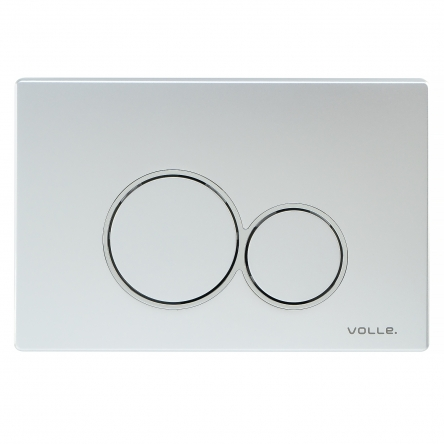 VOLLE VISO EVO клавиша смыва, матовый хром, пластик - 222122