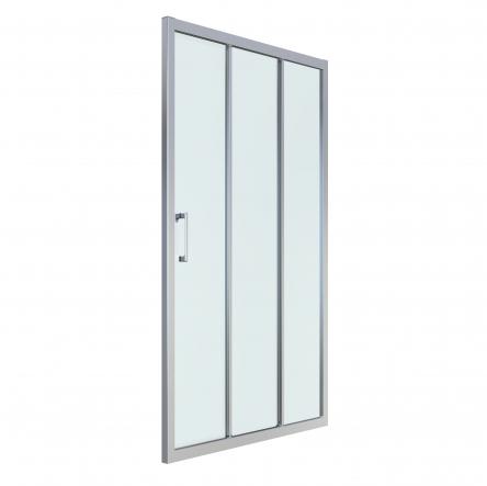 LEXO дверь 120*195см трехсекционная раздвижная, профиль хром, прозрачное стекло 6мм